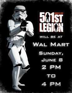 Simple social media advertisement for the Sioux Falls 501st Legion